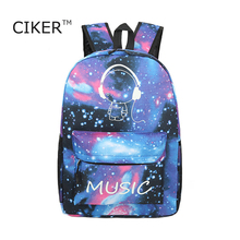 CIKER Brand luminous Galaxy printing backpack women laptop backpacks for teenage girls fashion Men s Backpack