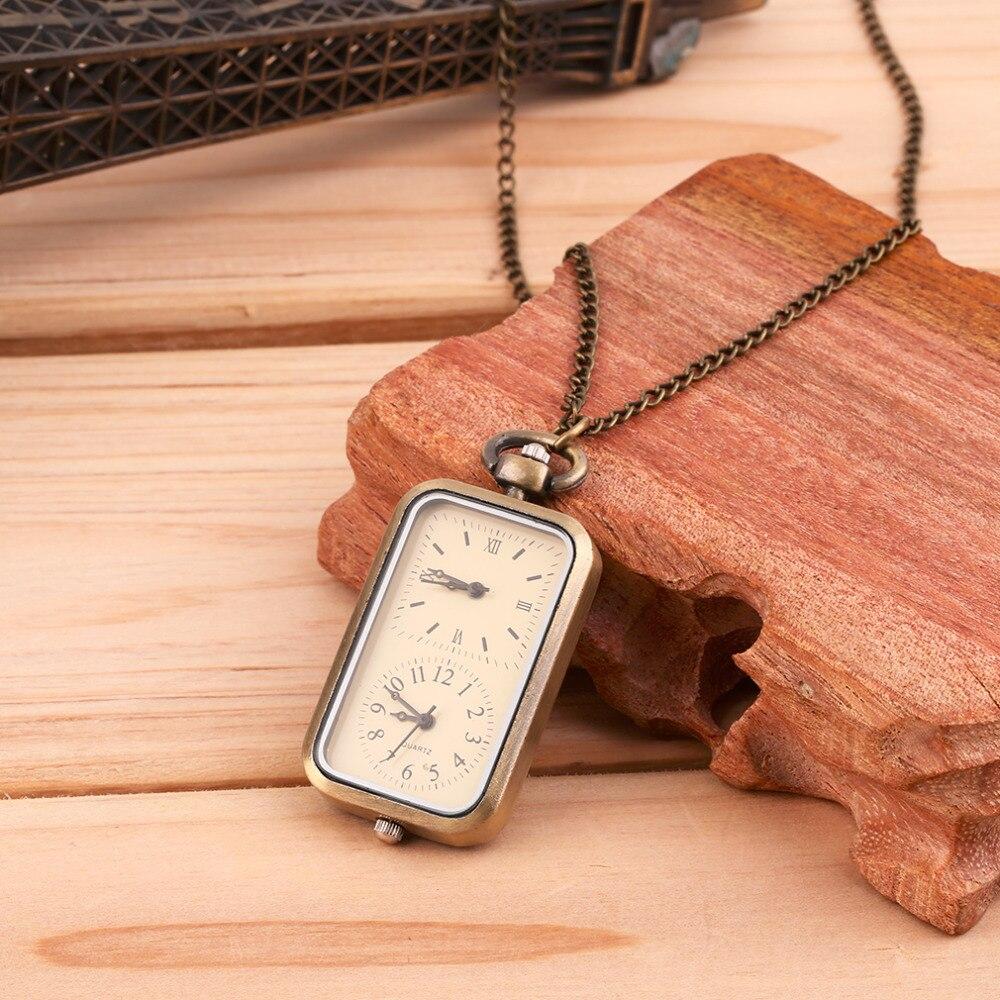 Antique Bronze Quartz Pocket Watch Dual Double Time Zone Movement Gift Men Women PendantAntique Bronze Quartz Pocket Watch Dual Double Time Zone Movement Gift Men Women Pendant