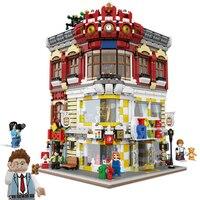 Creator Expert вид на улицу города большой торговый центр наборы Модель Конструкторы здания Кирпичи игрушки для детей развивающий кирпич