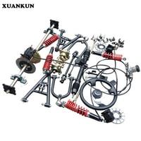 Xuankun четыре раундов пляж автомобиля картинг изменение Запчасти мотоциклетные заднего моста рокер перетащить три дисковые тормоза