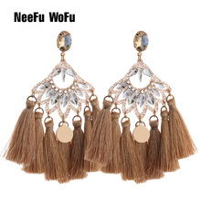 NeeFu WoFu Drop Earrings Resin Earring Tassel Big Earring For Woman Large Brinco Ear Oorbellen Exaggeration Christmas Gift цена в Москве и Питере