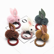 Cute Easter Rabbit Design Hair Bands Felt Three-Dimensional Plush Rabbit Ears Head Clip For Children Girls Easter Party Supplies(China)