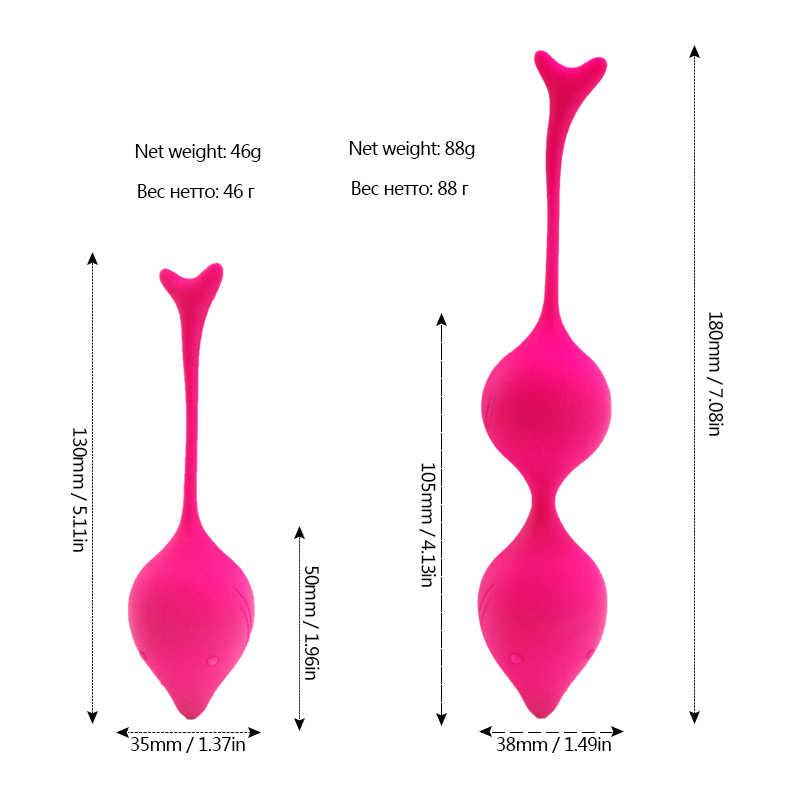 Inteligente Bola Amor Bola Gueixa Kegel Ben Wa Bolas Eróticas Adult Sex Toys Para As Mulheres Vaginal Apertar Trainer Exercício de Vibração ovo