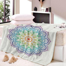 Mandala Printing Blanket for Beds Floral Roses Thin Quilt Fashionable Bedspread 120x150cm Fleece Throw Dropship