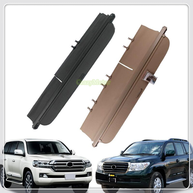 Black Beige Car Rear Trunk Luggage Shelf Cargo Cover For Toyota Landcruiser LC200 2008-2011/2012-2016 Auto Accessories Car Cover