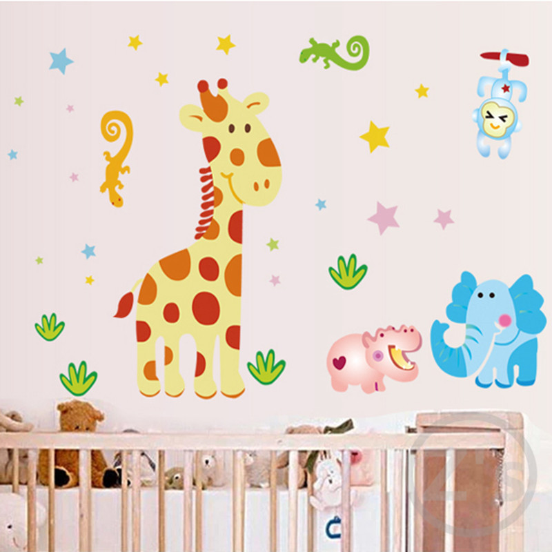 Buy giraffe wall sticker for kids room for Kids room wall decor