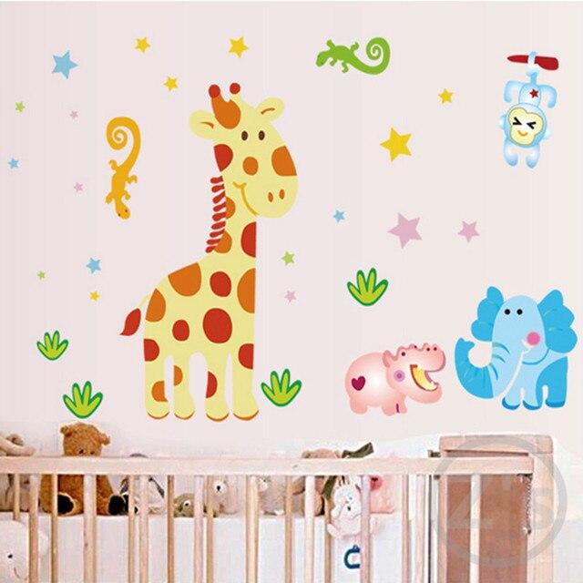 zs sticker safari wall sticker for kids room animals home decor