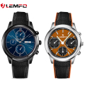 Lemfo lem5 smart watch phone support android 5.1 mtk6580 1 gb/8 gb cartão sim wifi gps bluetooth smartwatch para huawei apple telefone