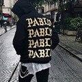 Жизнь Пабло Yeezys Kanye West Толстовка Мужчины Хип-Хоп Тянуть париж Открытие Yeezy Yeezus Тур Я чувствую себя, Как Пол Кофты Куртки