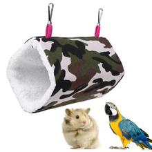 Soft Premium Canvas Bird Hamster Hanging Cage Stainless Steel hooks Hanging Nest Bed Small Pet Shuttle Play Warm Hammock