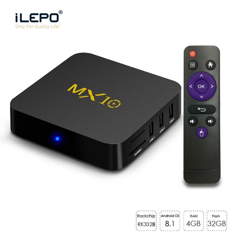 MX10 Smart TV Box Android 8 1 RK3328 Quad Core 64bit DDR3 4GB 32GB 4K HD