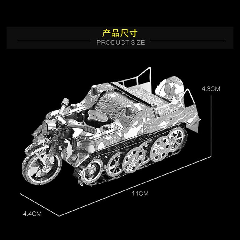 Nan yuan 3D Metal Puzzle SD.KFZ.2 Kleines Kettenkraftrad DIY Laser - Juegos y rompecabezas - foto 2