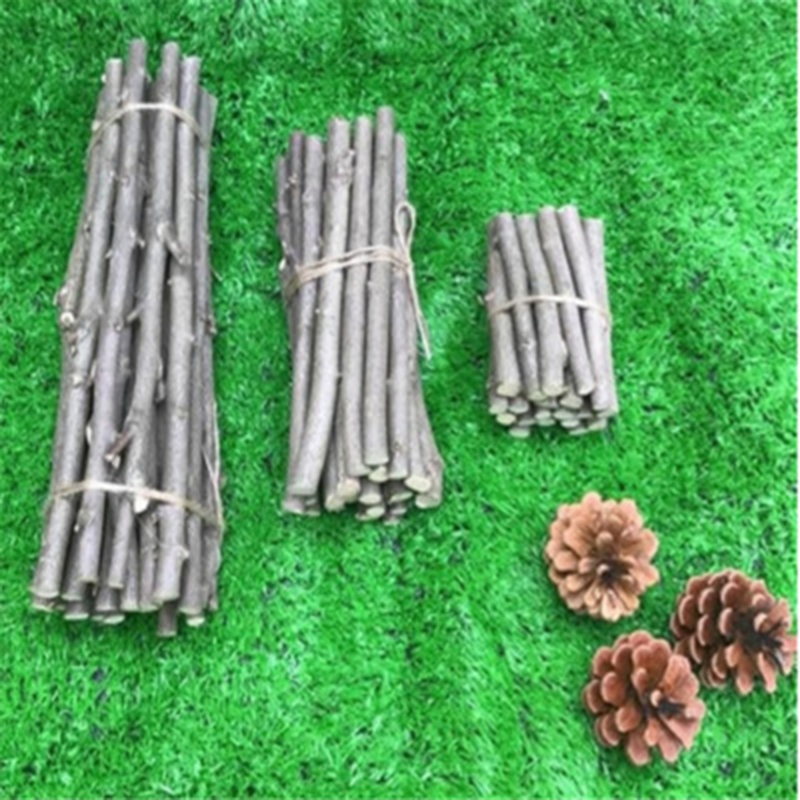 20Pcs/set Wooden Sticks Original Natural Small Wooden Sticks Grocery Branches DIY Materials For Garden Wedding Table Decoration