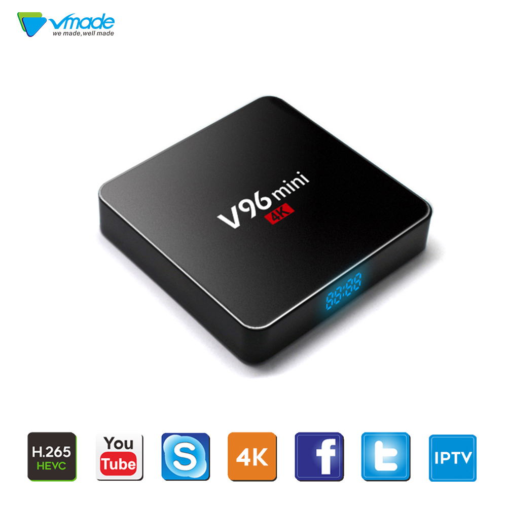 Vmade Original Android V96 7.1 OS Allwinner H3 Mini TV Box Support YouTube Bluetooth IPTV H.265/HEVC Android Smart Media Player
