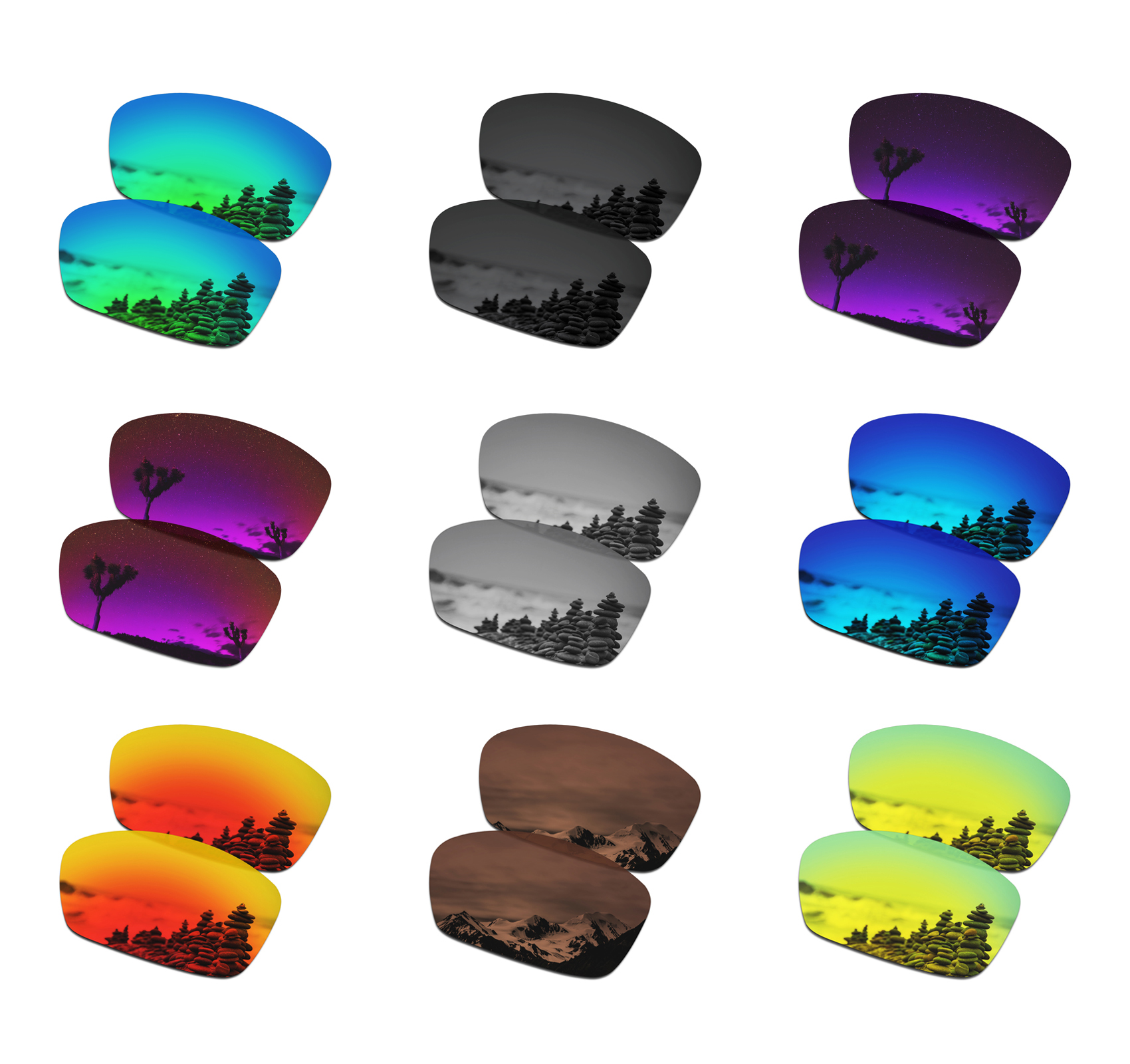 SmartVLT Polarized Replacement Lenses For Oakley Hijinx Sunglasses - Multiple Options