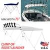 Mayitr Aluminum Fishing Rack Boat Rod Rack Rocket Launcher Rod Holder 6 Rod Outdoor Tool