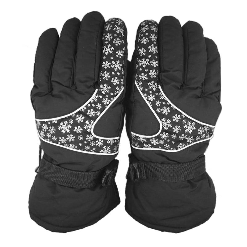 Prix pour Gants de ski en plein air femmes snowboard neige impression ski gants chauds coupe-vent vélo étanche thermique sports d'hiver 3 couleurs