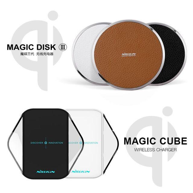 Nillkin magia disk iii magiccube qi carregador sem fio para samsung s6 s7 s7 s6 borda borda lumia 950 dispositivo de carregamento sem fio qi