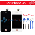 LCD Display +Touch Screen Digitizer Assembly For iPhone 4 4S White/Black +Tools Free Shipping
