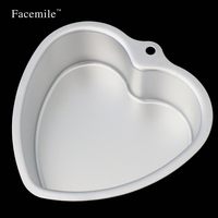New 8Inch Anodized Aluminum Heart Shape Cupcake Pan Cake Pudding Mold Baking Mould With Removable Bottom