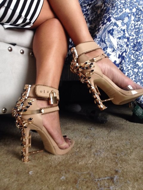 Luxury Shoes Woman Metal High Heel Crystal PVC Gladiator Sandals Padlock  Bejeweled Ankle Strap Rhinestone Sandal Women Runway 918b2e66f769