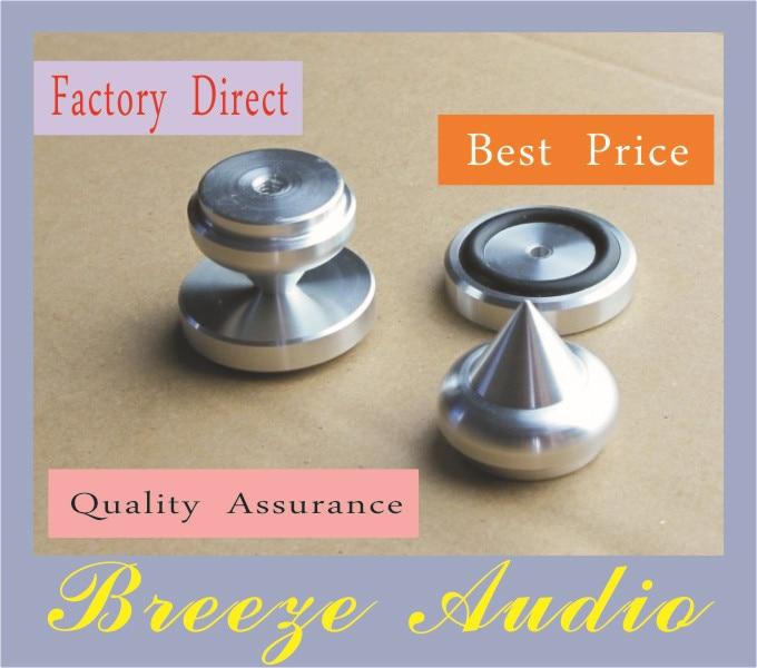 Weiliang πόδια αλουμινίου ήχου (με ελαστικό δακτύλιο) για ηχείο D: 30mm H: 24mm