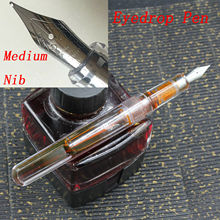OEM(Unbrand) Transparent Clear Eyedrop Pen With Wing Sung Soft M Wet Nib(No Ink Including) Stationery Office school supplies pen