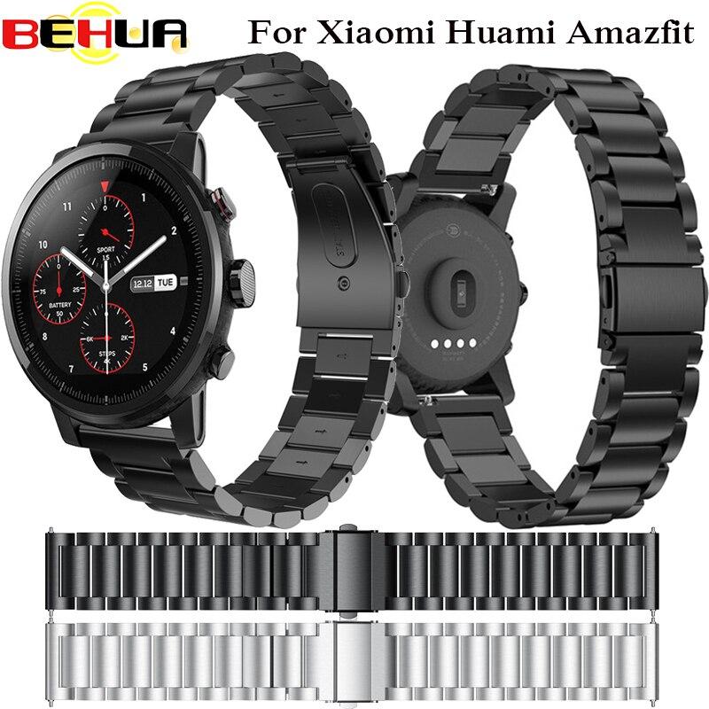 En acier inoxydable Bracelet pour Origine Xiaomi Huami Amazfit Stratos 2 2 S rythme de courroie de bande bracelet pour Samsung S3 22mm Montre bande