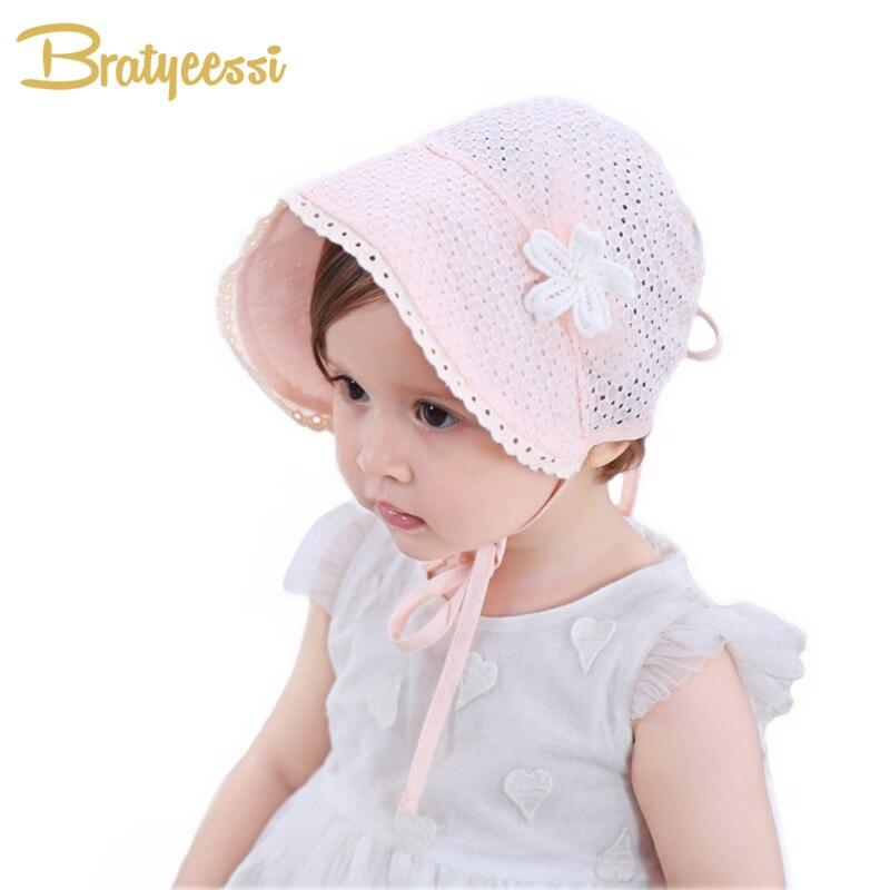 livraison rapide toujours populaire meilleure collection € 2.18 46% de réduction|Doux princesse bébé fille chapeau été à lacets  Bonnet rose/blanc coton Bonnet Enfant pour 4 24 M-in Chapeaux et Casquettes  ...