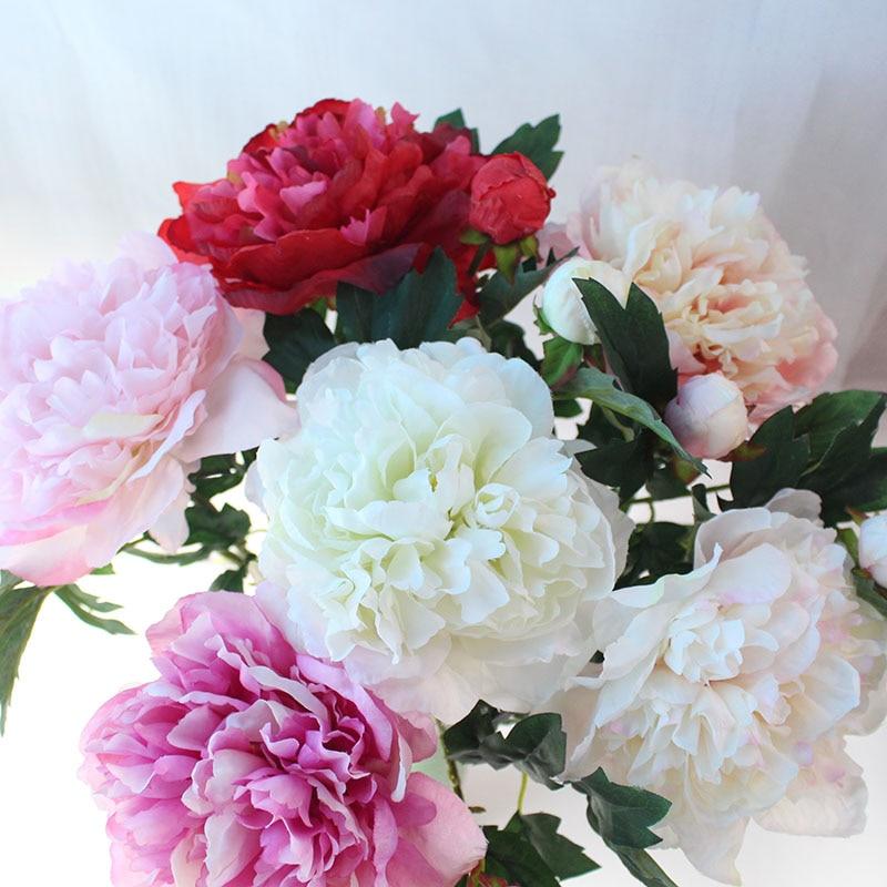 Silk peonies roses artificial flowers (18)