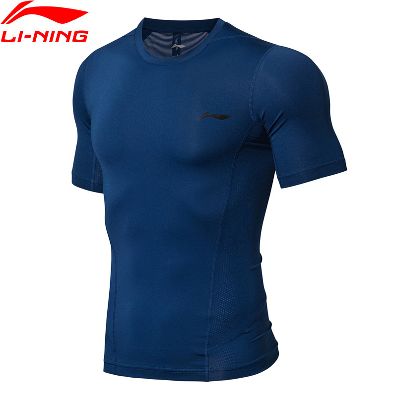 Li-Ning Men Training Series Tights Base Layer Breathable Tight Fit Polyester Spandex LiNing Sports T-Shirt AUDN095 MTS2862