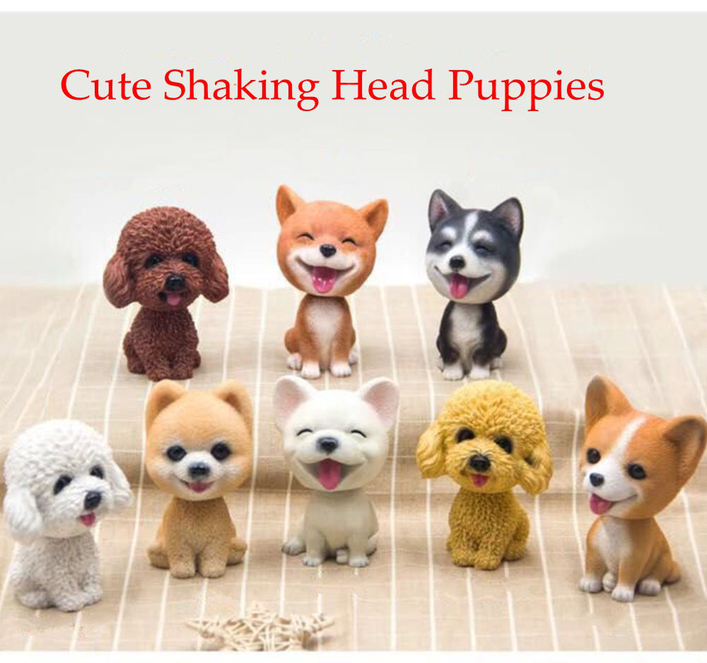 Nodding Dog Car Shake Head Dog Dolls Dashboard Car Decoration Accessories Auto Shaking Head Toy for Automobile Decor Car-styling high quality resin bichon frise dog figure car styling home room decoration love poodle decorative article christmas gift toy