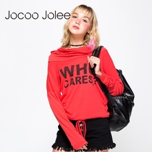 Jocco Jolee Tracksuit Women Letter Printed Long Sleeve Hoodies O-neck Pullovers Medium-long Hoodies Sweatshirts Autumn & Winter