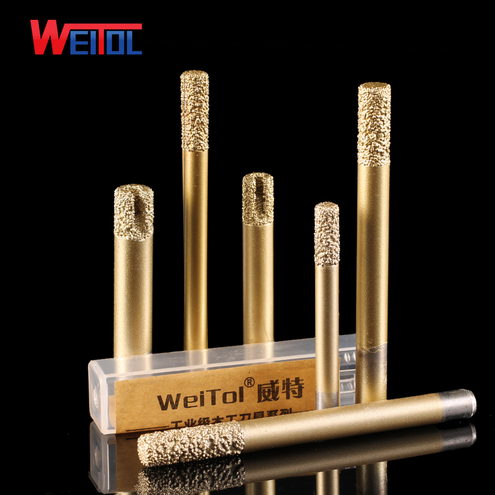 Weitol free shipping 6/8/12mm Brazing stone engraving bits marble granite router bits for CNC engraving machine carving tool 6 0 4mm 45 angle new 3pcs pcd diamond tool bits good discount cnc router machine tools for stone engraving carving