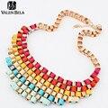 19 estilo declaração de luxo liga colares mulheres Chain Link moda 2015 novos itens gargantilhas Colar jóias HOT XL1062
