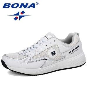 Image 1 - Мужские классические кроссовки BONA, уличные спортивные дышащие кроссовки из коровьего спилка для бега, прогулок и занятий спортом, 2019
