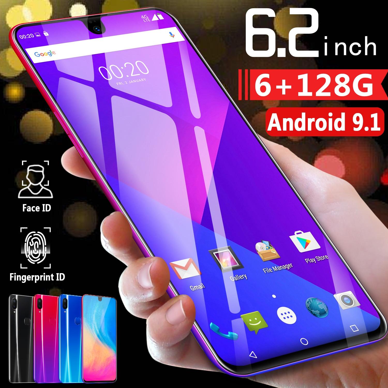 CHAOAI X23 6.2 pouces téléphone intelligent débloqué Mobile android 9.1 10 core HD caméras double carte sim double veille 4G net smartphone