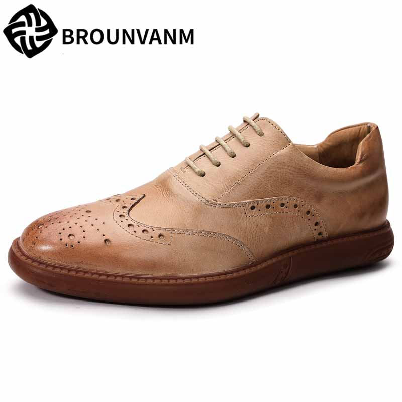New spring autumn summer Men's bullock shoes, Real Leather flat shoes men youth Leisure all-match cowhide breathable Leisure summer cycling dancing leisure flat shoes for men