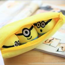 1pcs 30cm Despicable Me 2 Stuffed Plush toy doll film anime Minions pea banana style cotton
