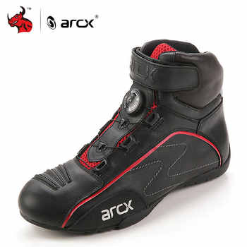 ARCX Motorcycle Boots Men Leather Moto Boots Street Moto Cruiser Touring Biker Motorbike Riding Boots With Tuning Knob Laces - DISCOUNT ITEM  49% OFF Automobiles & Motorcycles