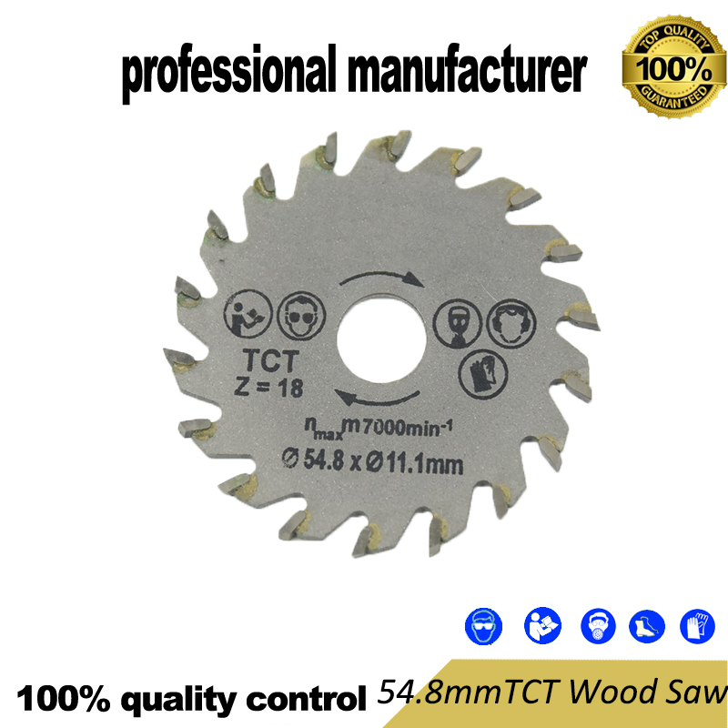 Tungsten Circle Saw  54.8mm  Renovator Blade For Mini Hand 18teeth For Wood Board And Pvc At Good Price Fast Delivery
