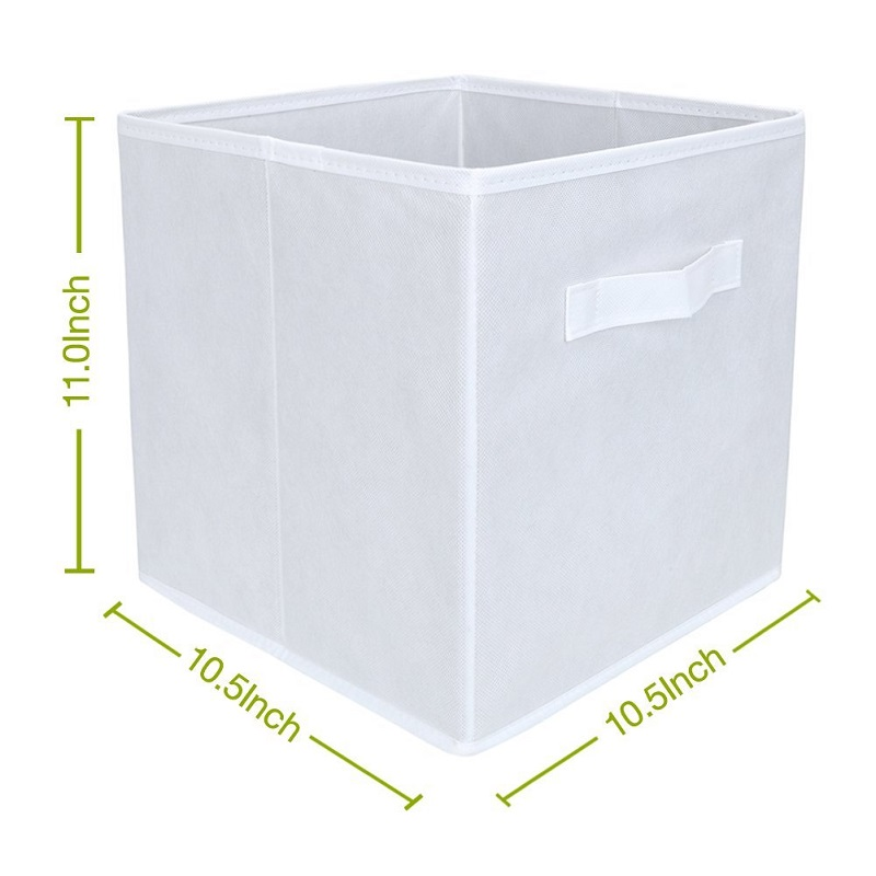 Attractive White Fabric Cube Storage Bins, Foldable, Premium Quality Collapsible  Baskets, Closet Organizer Drawers In Storage Boxes U0026 Bins From Home U0026  Garden On ...