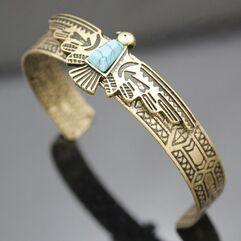 Vintage Gold Silver Tribal...