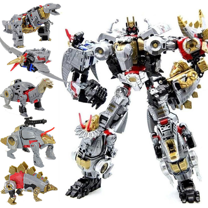 NEW movie 5 in 1 Transformation Action Figure Toys boy Anime Dinosaur Robot Car Motorcycle Tank