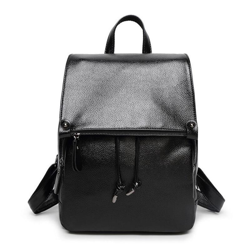 2016 New Casual Girls Backpack PU Leather Fashion Women Backpacks Zipper Pocket School Travel Bag For Teenagers Girls