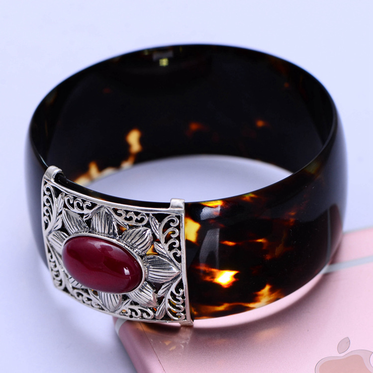 Fashion 925 Sterling Silver Fine Jewelry Corundum Sun Flower Bangle & Bracelet Thai Silver Jewelry Gift CH050292 925 sterling silver aquamarine bracelet with flower women thai silver gift dual string jewelry ch058534
