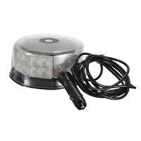 NEW 16W 32LED Magnetic Round Car Roof Lamp Emergency Warn Strobe Flash Light Amber Traffic Light
