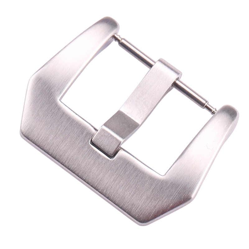 20mm 22mm 24mm hebilla de reloj de acero inoxidable negro plata Metal sólido correa de reloj accesorios de correa para Panerai