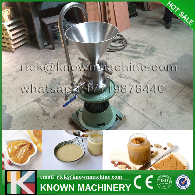 Food Industry vertical type peanut butter colloid mill maker machine 4000W 90kg on hot sale with free shipping by sea peanut butter machine nuts butters maker