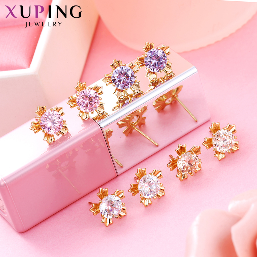 Xuping Elegant Earring New Design Gold Gold Plated Brand Fashion - Bisutería - foto 6